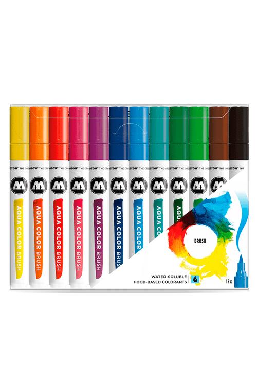 Estojo-com-12-Cores-Aqua-Color-Brush-Molotow-Violeta--E2-80-93-Brush-Pen